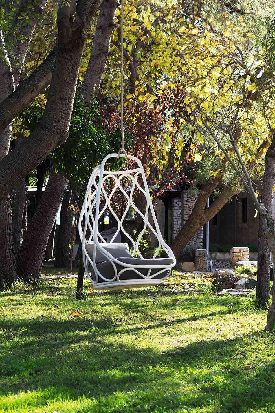 preparar el jardin silla colgante