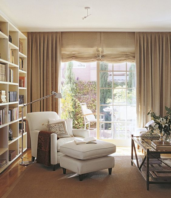 Ideas para crear tu rinc n de lectura en casa - Tipos de cortinas para salon ...