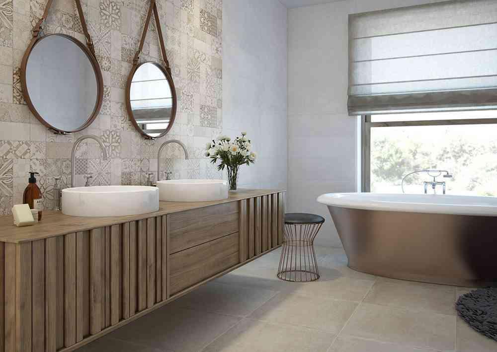 5 suelos para el cuarto de ba o decorativos y pr cticos - Papel para azulejos de bano ...