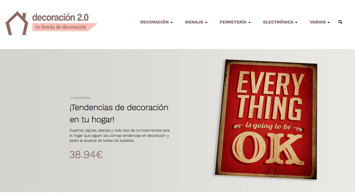 tienda de decoración online