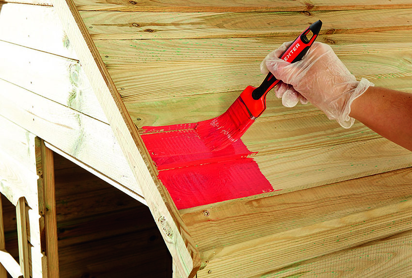 zona de juegos paso 1. pintar tejado