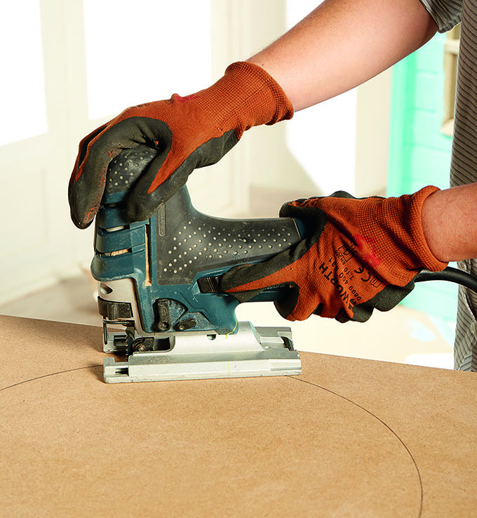 zona de juegos paso 5. cortar madera redonda