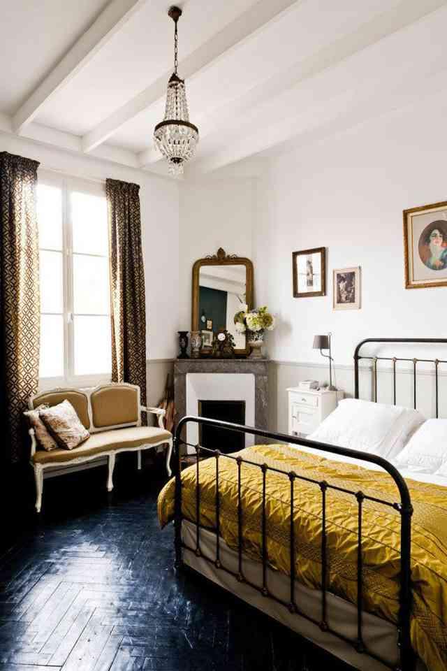 cama de hierro honestly amarilla