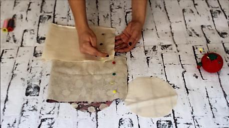 cestas de tela redondas - cerrando lateral forro cesta tela 3