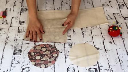 cestas de tela redondas - cerrando laterla cesta tela