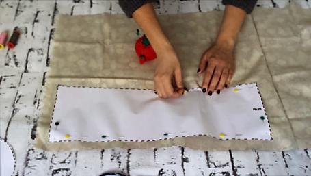 cestas de tela redondas - como cortar tela cestas tela