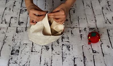 cestas de tela redondas - embolsar cesta tela 1