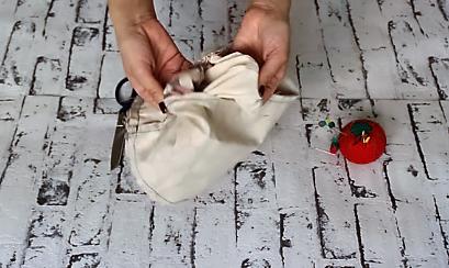 cestas de tela redondas - embolsar cesta tela 5