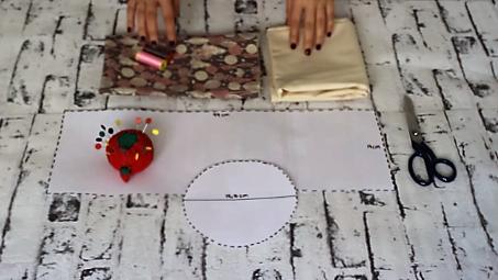 cestas de tela redondas - materiales cesta tela