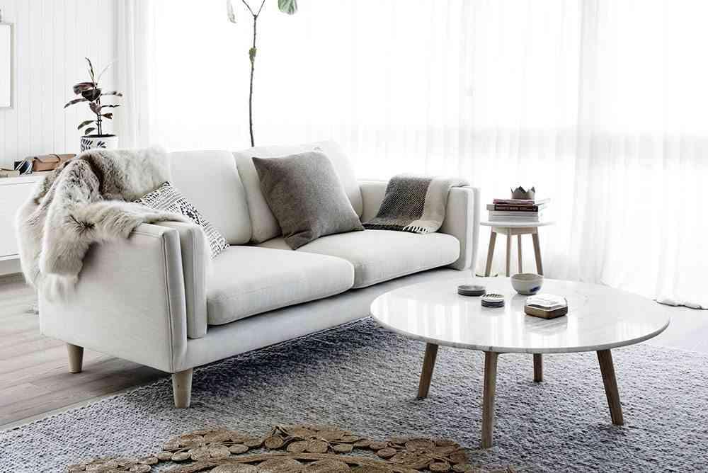mesa auxiliar para el sofa marmol