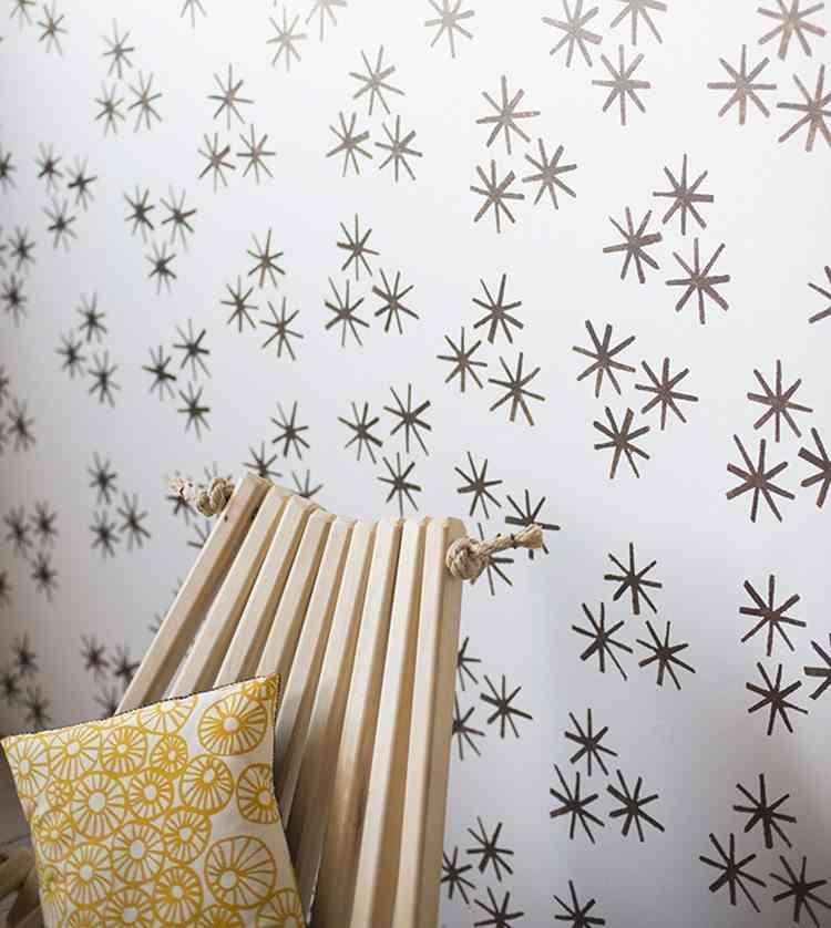 Diy c mo pintar una pared con estarcido - Plantillas para decorar paredes ...