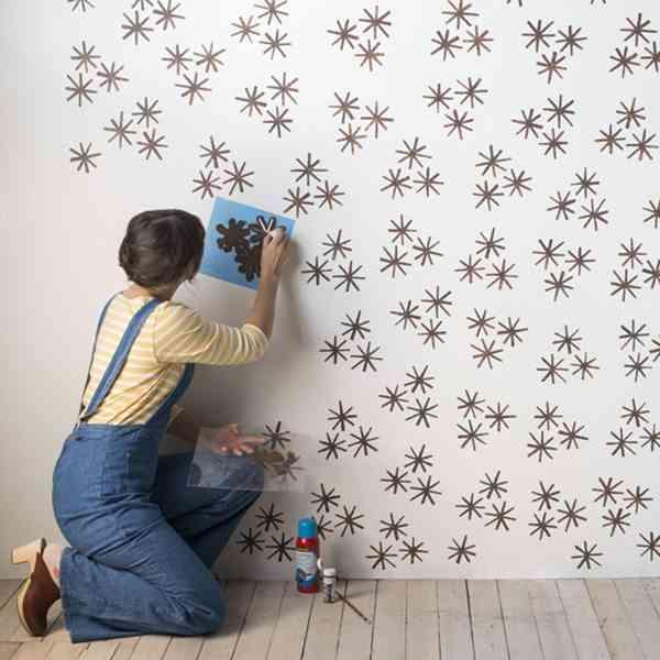 pared con estarcido pintar