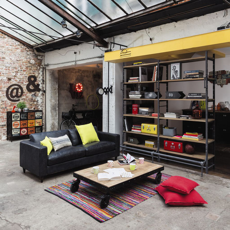 sofa de cuero maisons industrial