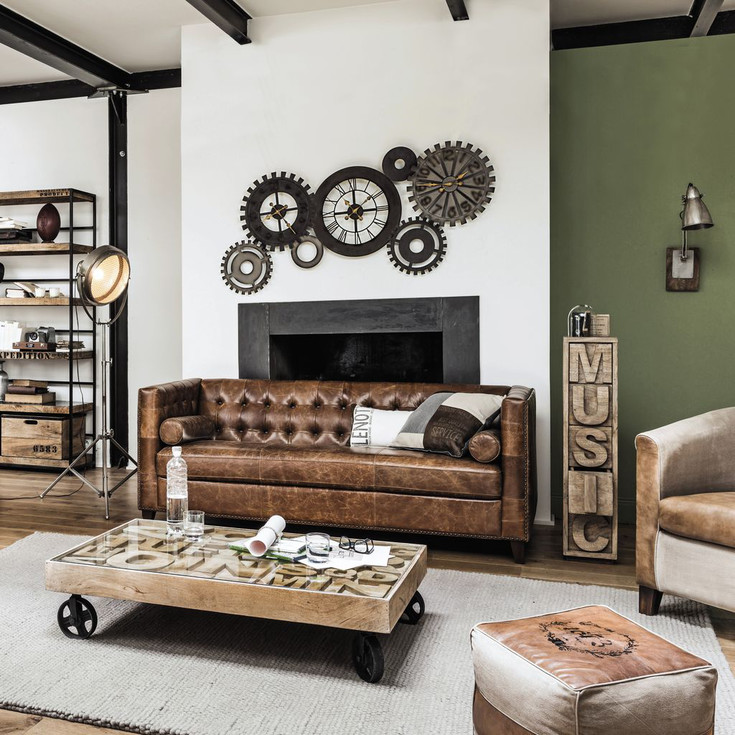 por qu elegir un sof de cuero para el sal n. Black Bedroom Furniture Sets. Home Design Ideas