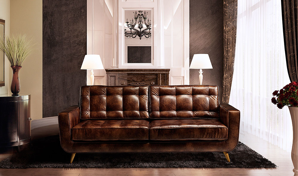 sofa de cuero portobello