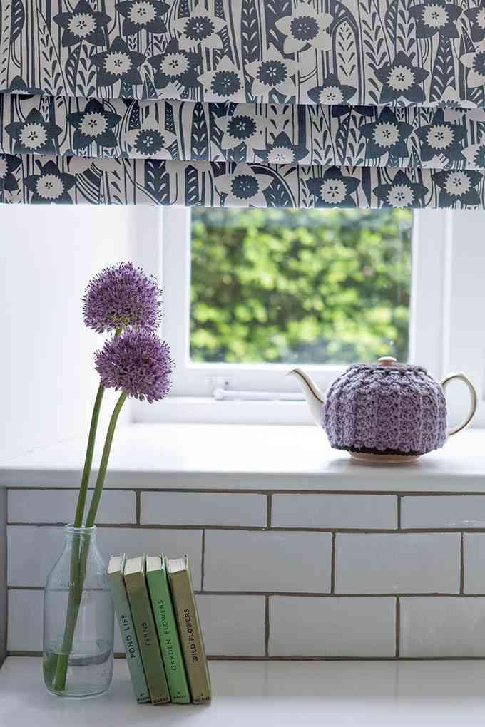 ventanas con estores Daffodil Slate Fabric