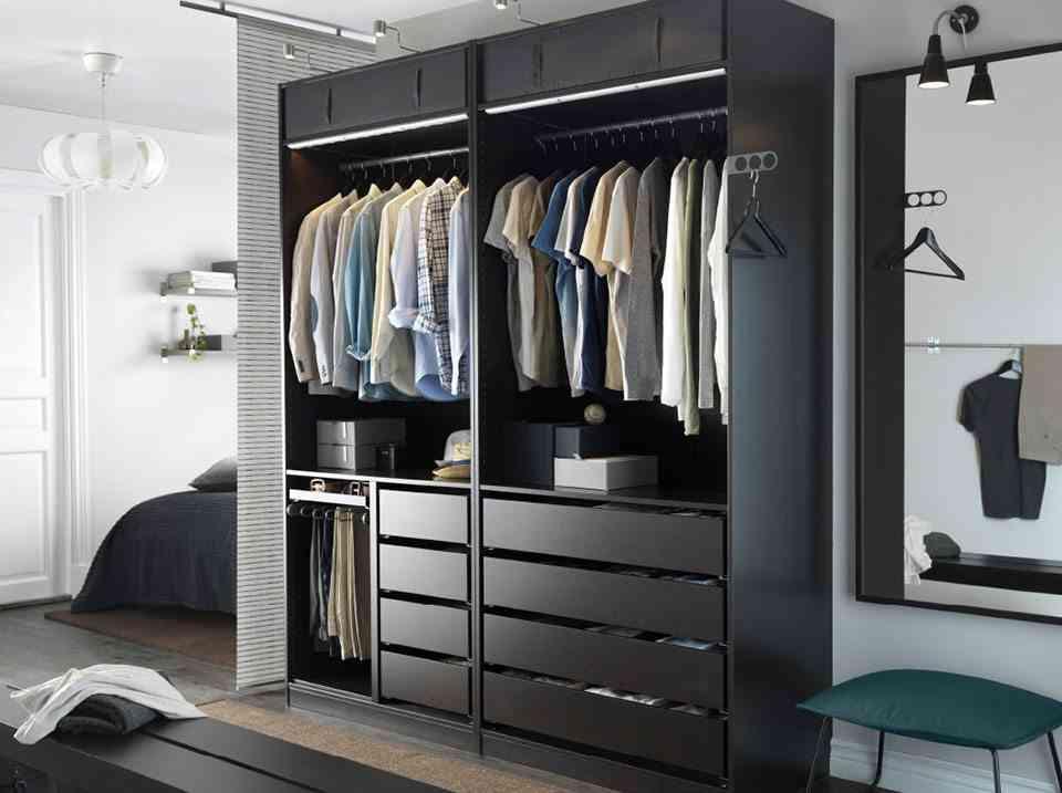 armario modular ikea abierto