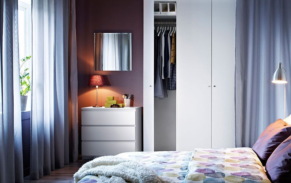 colores para decorar el dormitorio Ikea morado