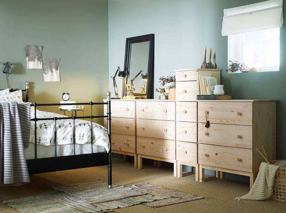 colores para decorar el dormitorio ikea verde suave