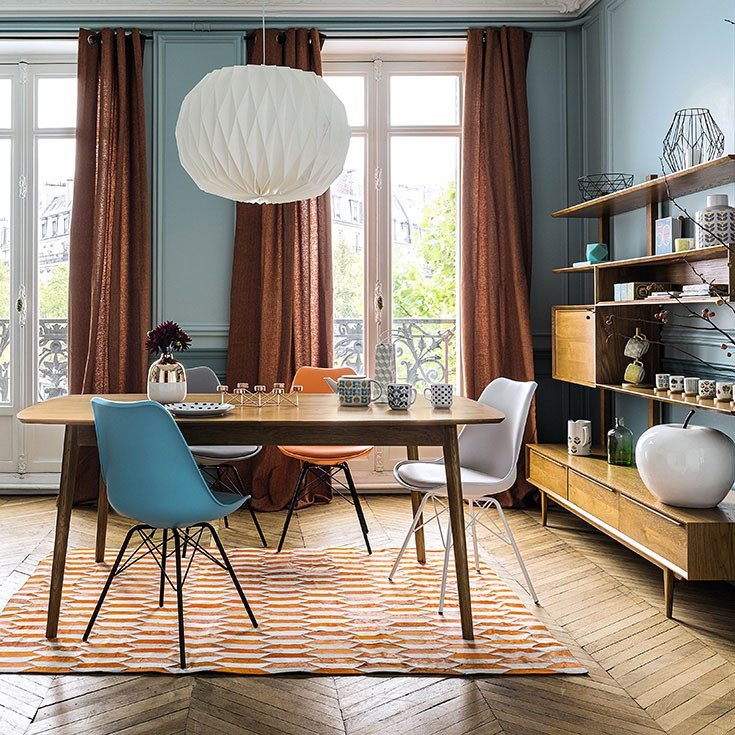 combinar colores maison azul naranja