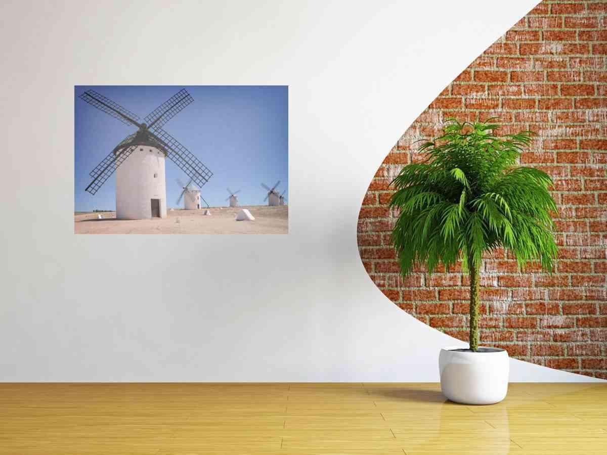 Cuadros de fotografías - cuadro de aluminio campo de criptana 2 - CU08