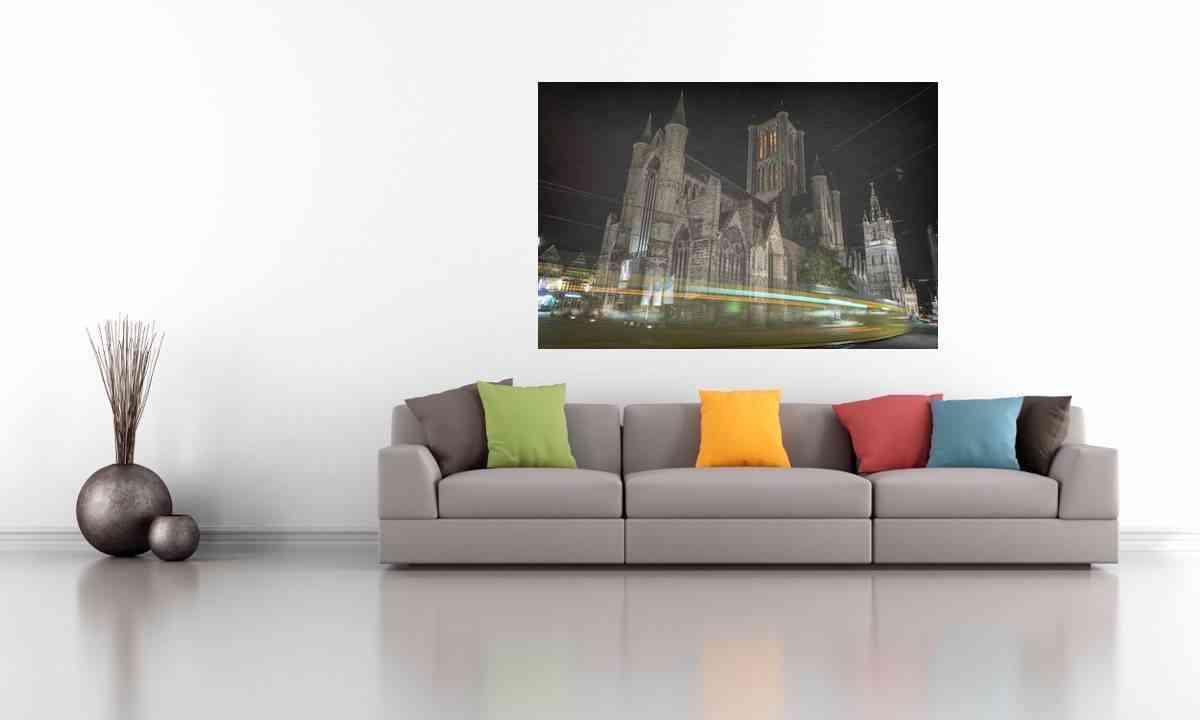 Cuadros de fotografías - cuadro de aluminio - Gante de noche 2 - CU04