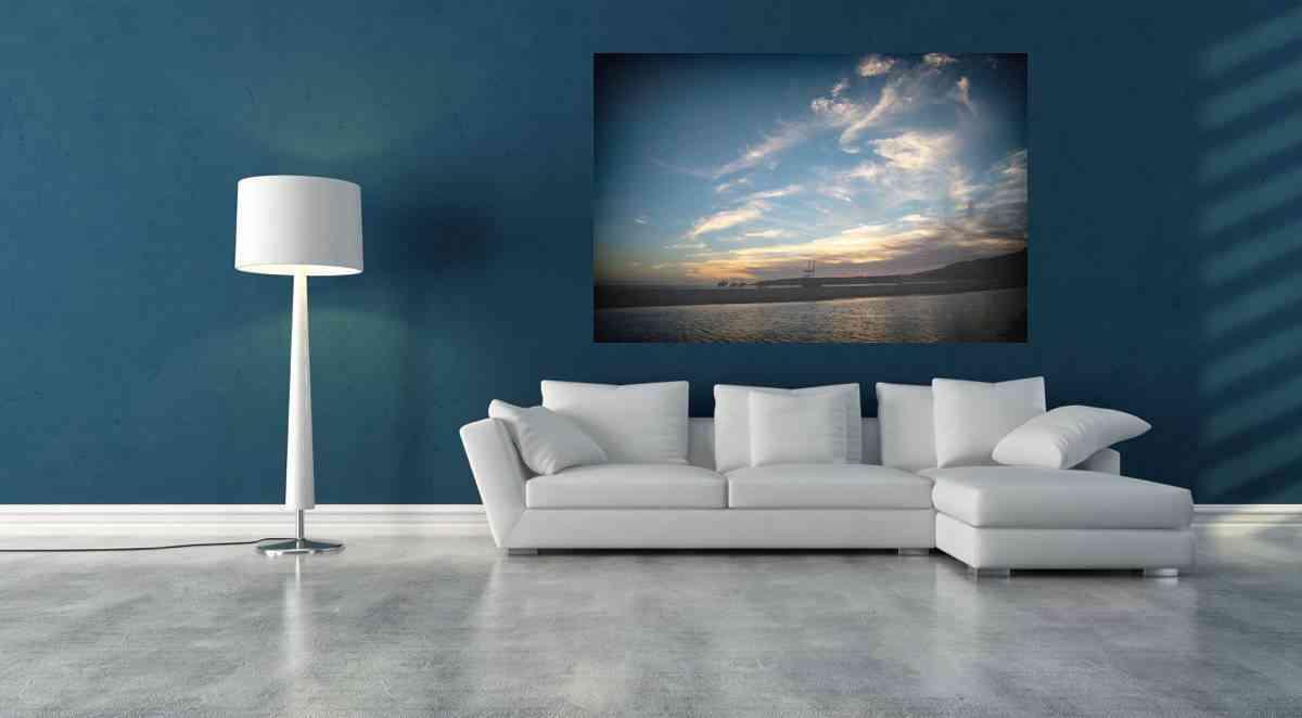 Cuadros de fotografías - cuadro de aluminio playa y caballos 2- CU09