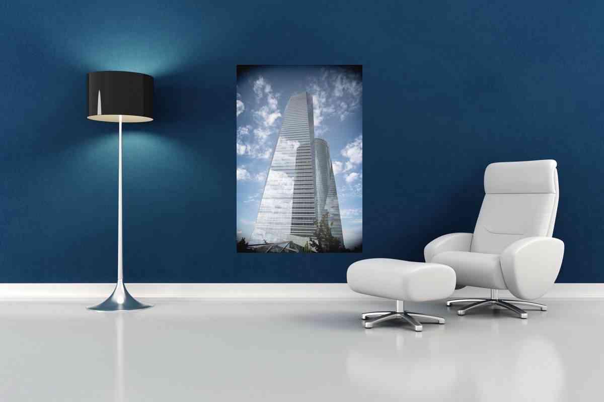 Cuadros de fotografías - cuadro de aluminio torres de Madrid 2- CU11