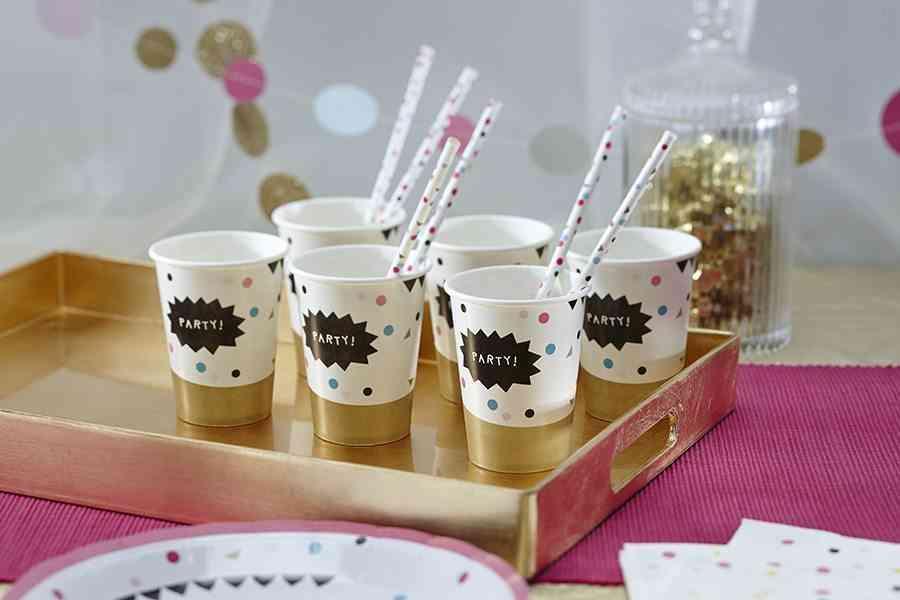 decoracion de fiestas de verano vasos ginger