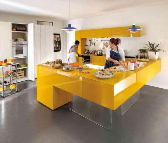 decoracion en amarillo home designing cocina
