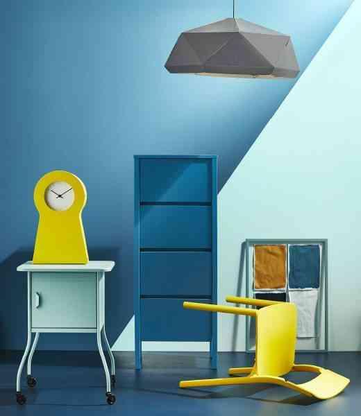 decoracion en amarillo ikea azul y amarillo