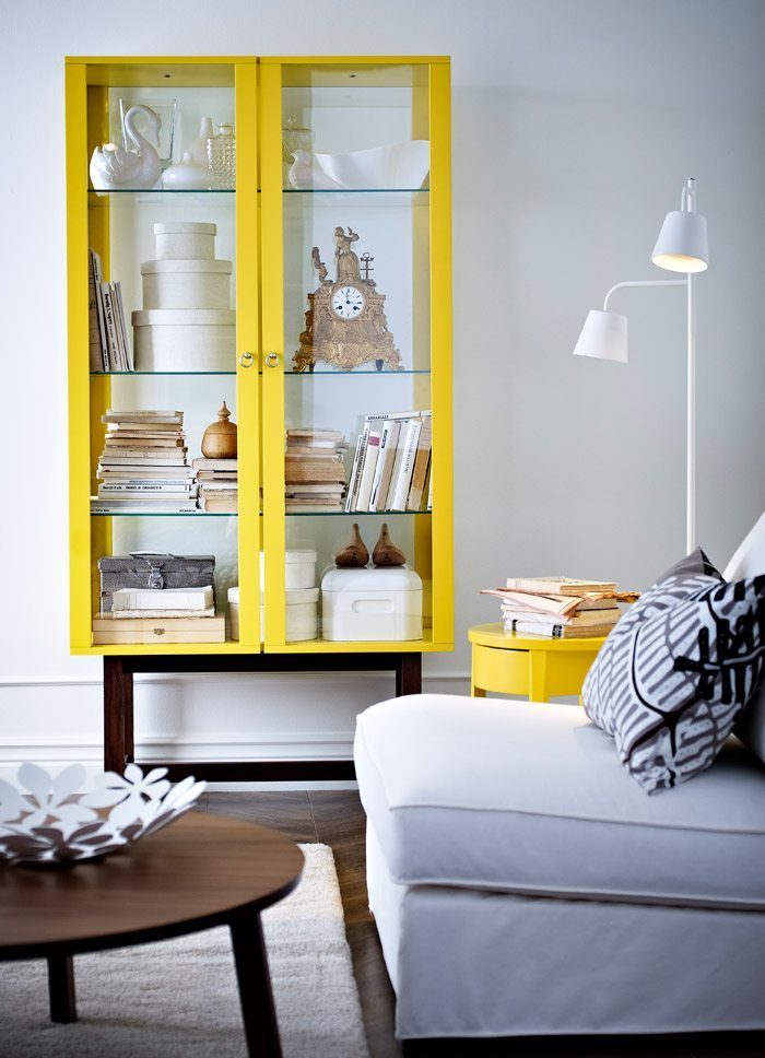 decoracion en amarillo ikea muebles