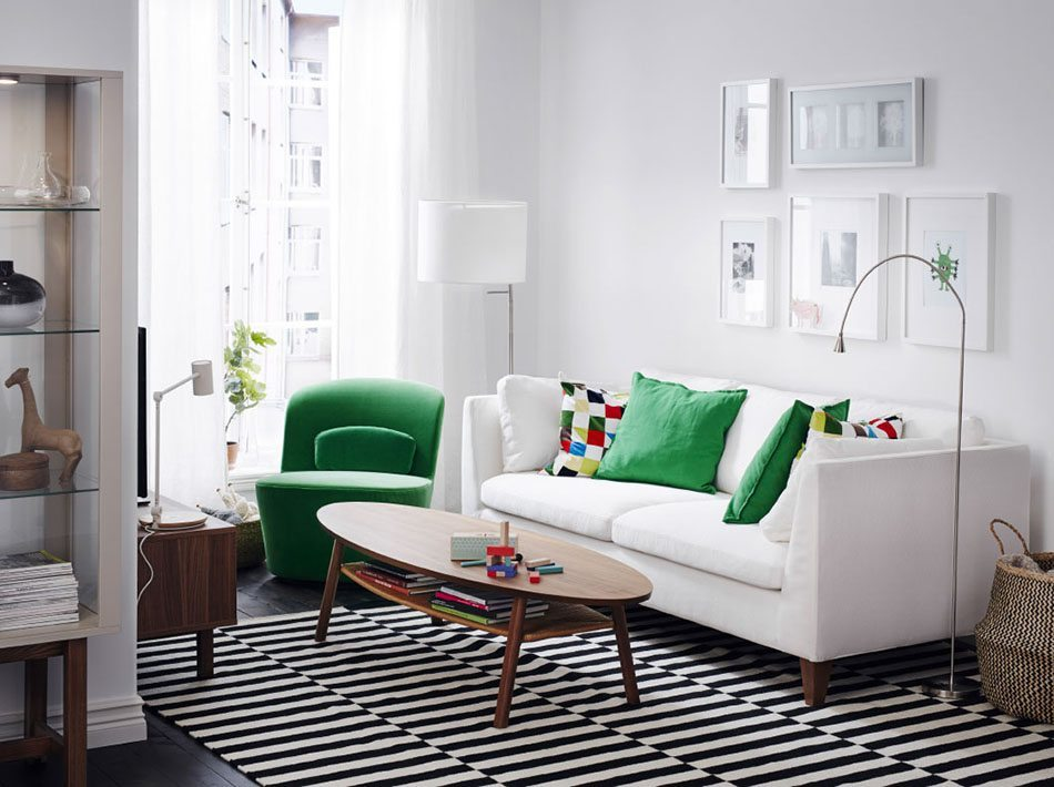 decorate your house for the first time ikea white sofa