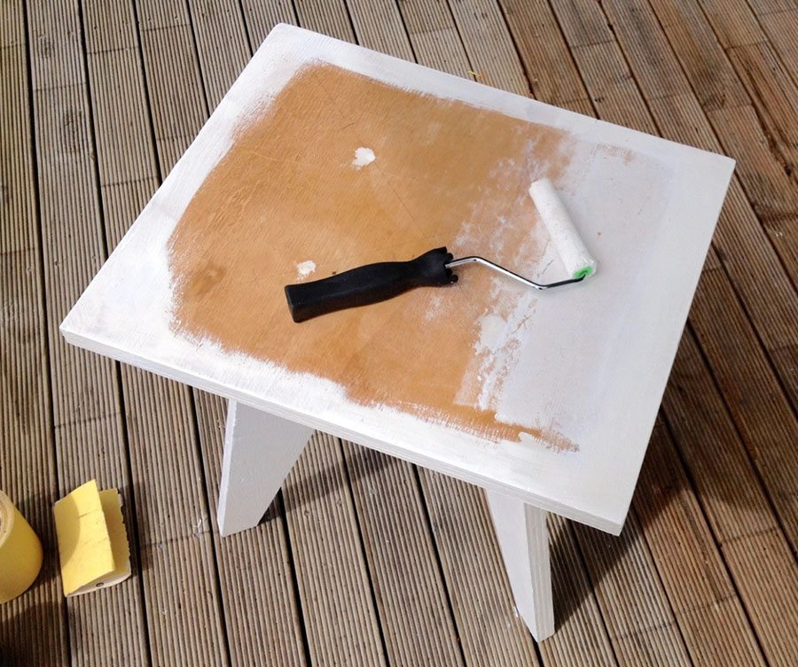 decoupage en madera pintar mesa