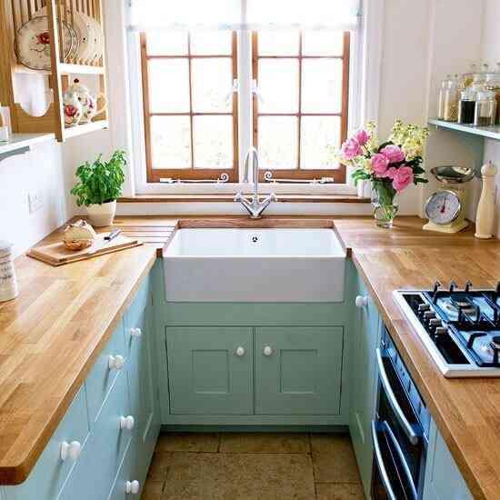 espacio en una cocina pequena House to home green