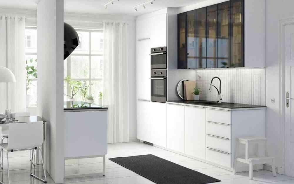 espacio en una cocina pequena ikea abierta