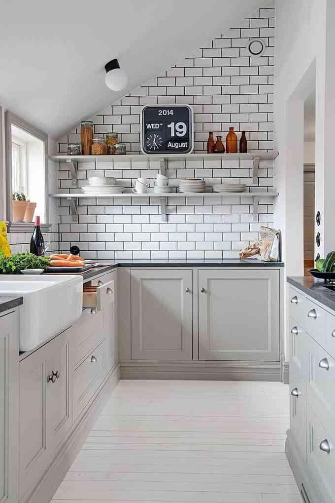 C mo aprovechar el espacio en una cocina peque a - Planificar una cocina ...
