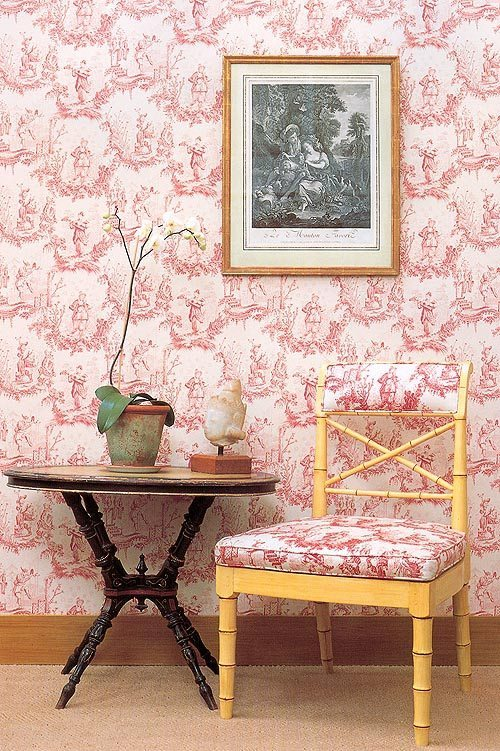 estampado toile de Jouy fabrics and papers