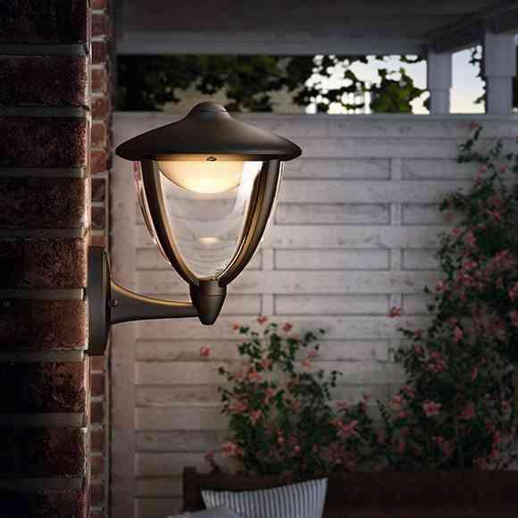 iluminar el jardin aplique clasico lm