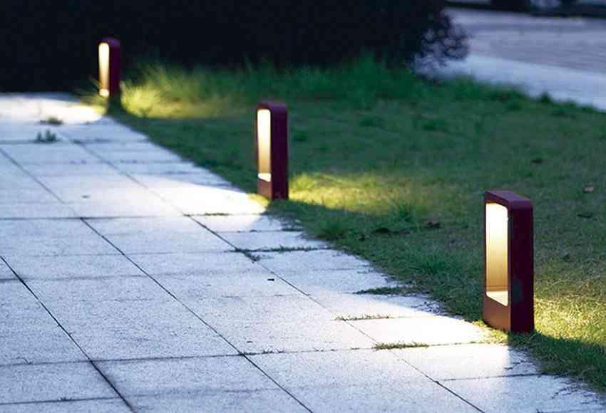 iluminar el jardin baliza sendero lm