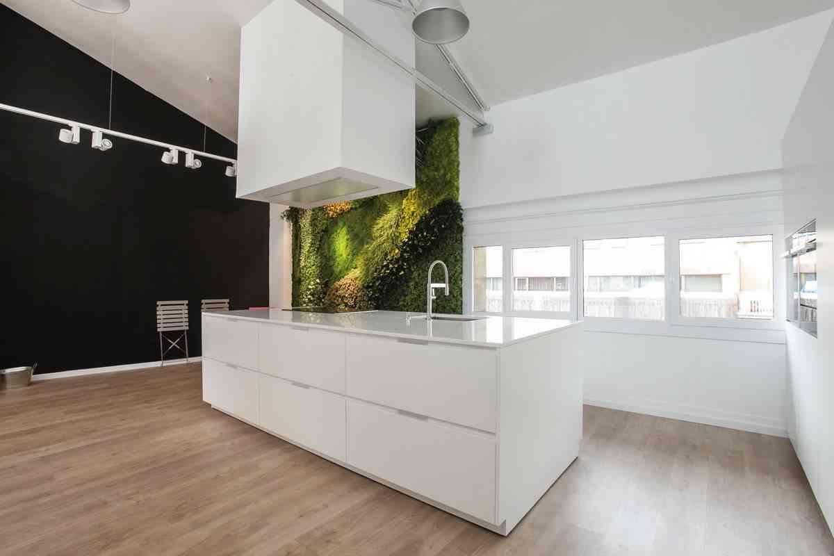 jardin vertical en la cocina -con-isla-espacio-mood-diseno-santos-3