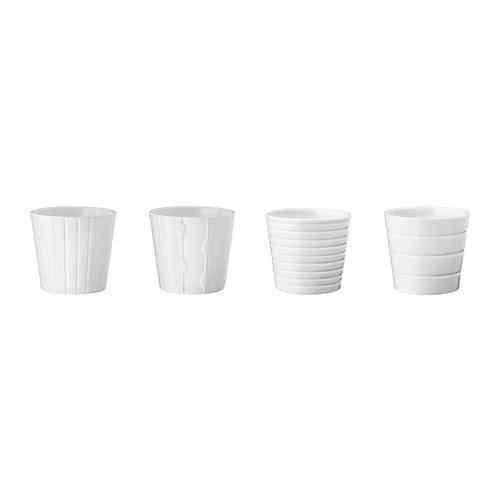 maceteros de Ikea - macetero blanco de IKEA por menos de 1 euro