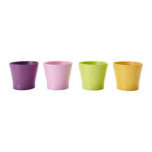 maceteros de Ikea de colores por menos de 1 euro