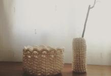 Ideas para manualidades con trapillo para jarrón y frutero