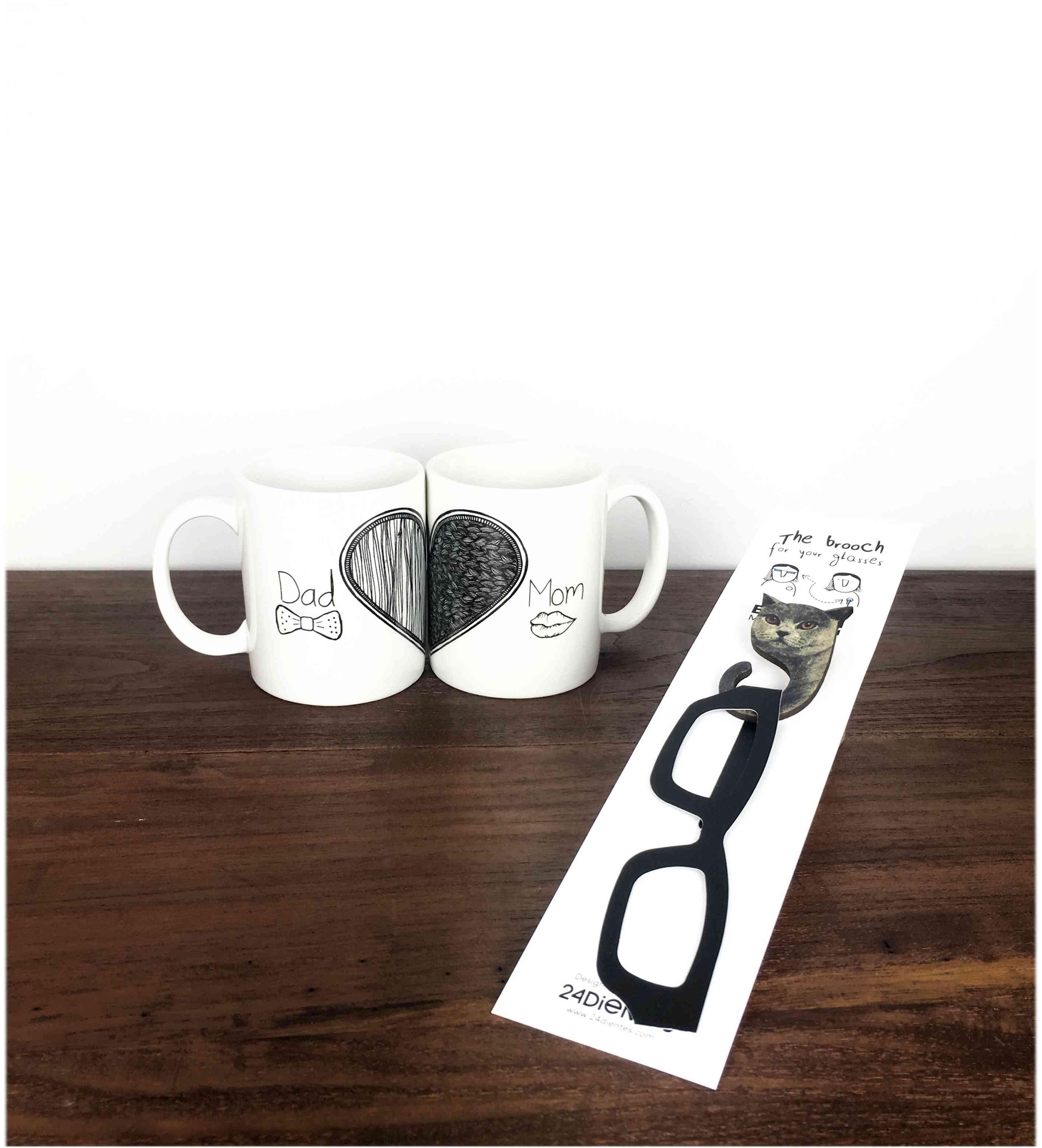 regalos divertidos para el Día de la Madre - Regalo para mamás prácticas: tazas y cuelga-gafas