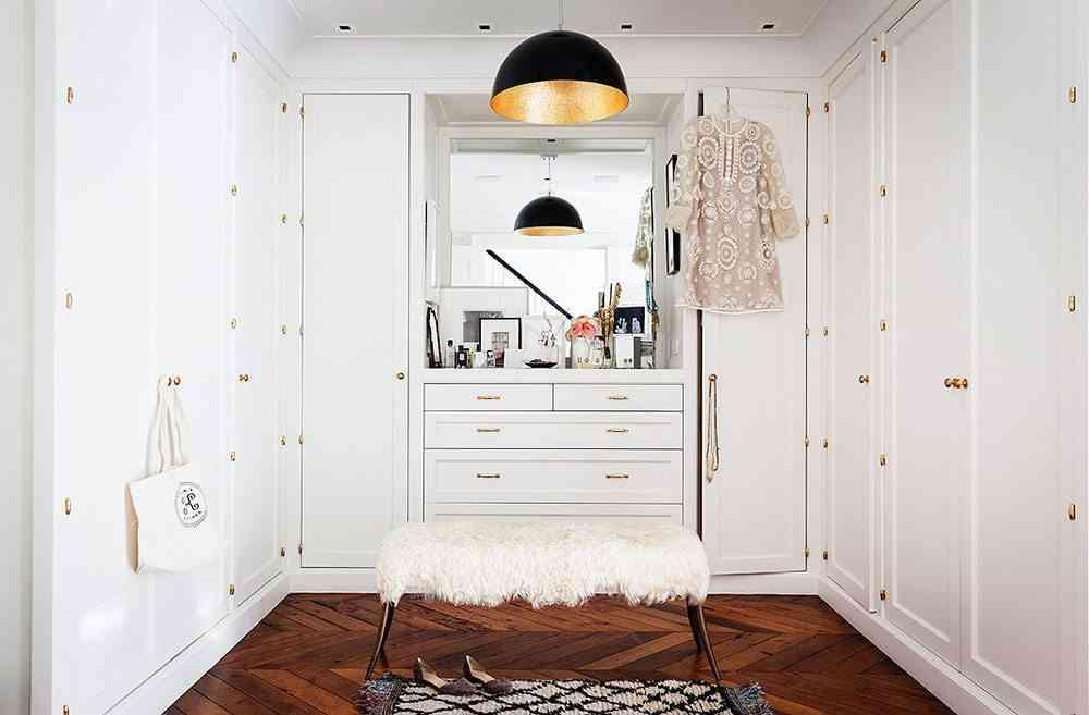 casa sofisticada y familiar vestidor
