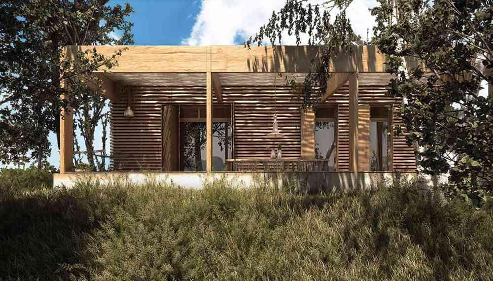 casas ecologicas en espana fachada