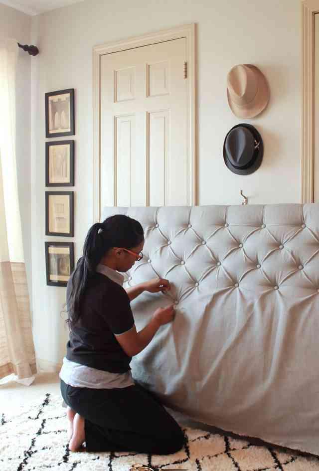 Diy c mo hacer cabeceros de cama con tapizado capiton - Tapizar sillon paso a paso ...