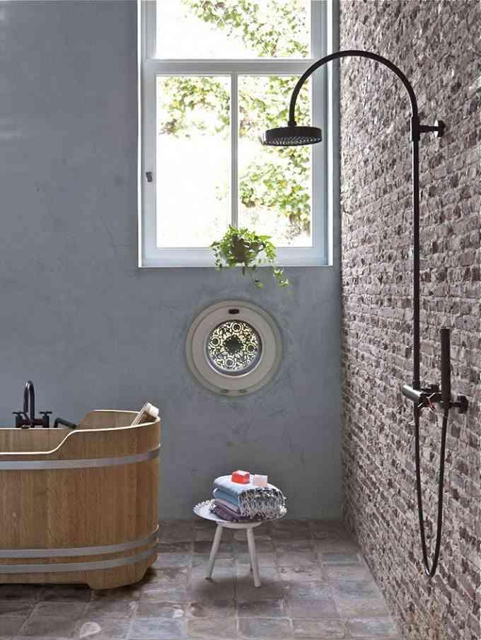 decoracion de casas de campo bano ducha