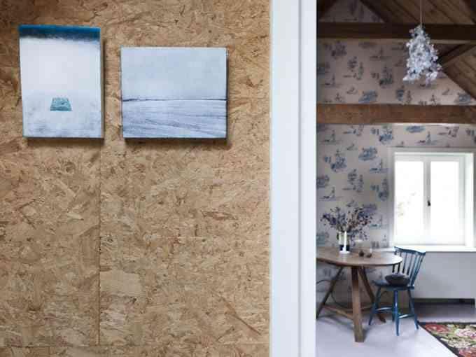 decoracion de casas de campo corcho y papel
